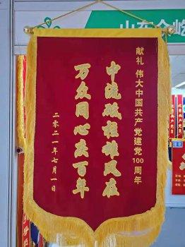 建党100周年高档旗帜锦旗绶带制作批发